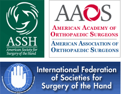 ASSH, AAOS, Internaional Federation of Societies for Surgery of the Hand